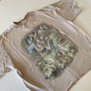 Vintage crop cut wolf T-shirt
